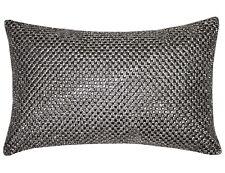 Kylie Minogue NOVELLO Silver Grey Crystal Diamond Filled Bed Cushion 18cm x 32cm