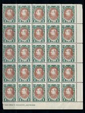 [G14598] Albania 1925 good stamps very fine Mnh in bloc of 25
