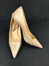 COLE HAAN Women's Gold AIR Sole Snakeskin Look Pointed Toe Heels/ Pumps Size 6