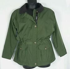PATAGONIA WOMENS FLEECE LINED GREEN GRAY JACKET COAT SZ SMALL MODEL# 27059