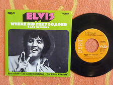 ELVIS PRESLEY Where Did They Go Lord 45 rpm w/ PICTURE SLEEVE RCA Victor 1971