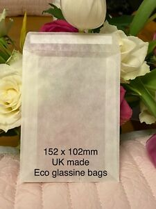 Glassine Bags Eco Craft Wax Melt Biodegradable 152 x 102mm LG Peel & Seal confet