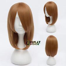 Anime Party K-ON Haruhi Suzumiya Short Brown Wavy Heat Resistanrt Cosplay Wig