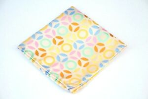 Lord R Colton Masterworks Pocket Square - Ivory Colorful Exogenesis Silk $75 New