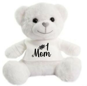 Number 1 Mom Mothers day super soft cuddly Christmas gift Birthday Teddy Bear
