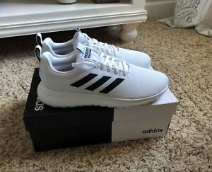 Adidas Women's Lite Racer White and Black Tennis Shoes, Size 8.5