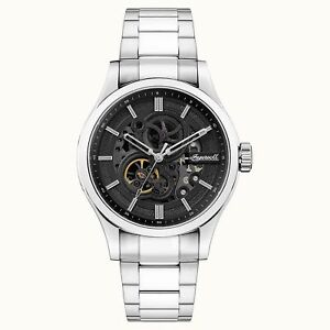 Ingersoll The Armstrong Automatic Black Dial Silver Steel Bracelet I06803