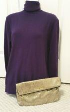 MSRP $75 Victorias Secret Gold Purse Glitter Shimmer Zipper Bag Clutch Handbag