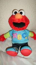 "ELMO Singing ABC Sesame Street Plush Doll Hasbro Electronic Talking Toy 12"""