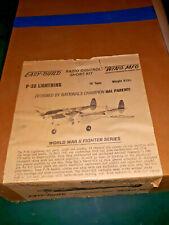 "P38 Lightning 70"" RC Airplane Kit WING MFG Easy-Build Short Kit vintage READ ME"