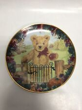 """Teddy's First Harvest 8"""" Franklin Mint Heirloom Recommendation Collector PlateD4"""