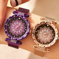 Luxury Starry Sky Watch Magnet Strap Free Buckle Stainless Steel Women's Gift