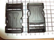 """2pcs. in PLASTICA SACCHETTI Lato Rilascio Fibbie Cinturini clip per cinghia - 30 mm """"N"""""""