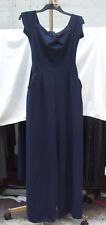 LOVE S merveilleux bleu marine enchanteur Maxi flatteur long unuisual dress UK 8