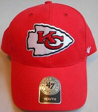 Kansas City Chiefs '47 Brand Headwear Youth Cap Hat One Size 8-20 Adjustable