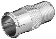 10 x Verbinder F-Quick Stecker > F-Kupplung F-Schnellstecker