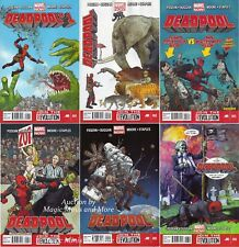 DEADPOOL 2012 (6) comic run #1 2 3 4 5 6 1st print MARVEL NOW! Set ongoing