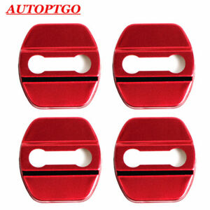 W/LOGO Red Car Door Lock Protective Cover Cap For Most of Nissan X-Trail Teana