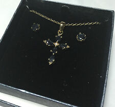 Brand new Black onyx Cross Pendant necklace and earring set Gift for her
