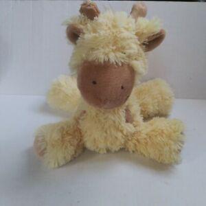 "First Impressions Yellow Giraffe 12"" Plush Lovey Stuffed Animal 2014 Brown Spots"