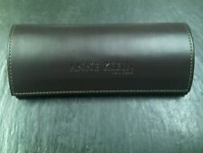 Anne Klein New York Sunglasses Eyeglasses Case Brown Leather  Magnetic Close