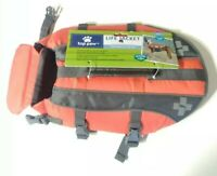 New Top Paw Orange Dog Life Jacket Unisex Size Small ( 15-30 LBS) Free Shipping
