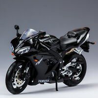 1/12th Scale Diecast Racing Motorcycle Model Black Toy For Maisto YAMAHA YZF-R1