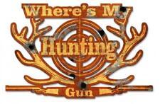 BASS FISH Hunting Gun Metal Sign Man Cave Garage Body Shop Cabin Barn Shed Lodge
