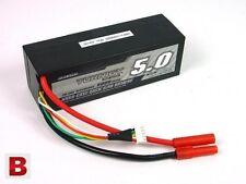 New Turnigy 5000mAh 4S 14.8v 20C 30C Lipo Battery Pack Losi HPI Venom hard case