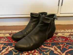 Black Leather Pixie Boots (from Myer) - Size 39