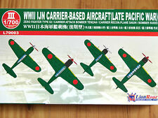 GWH Lionroar 1:700 IJN Carrier Based Aircraft Set (Late Pacific War) Model Kit