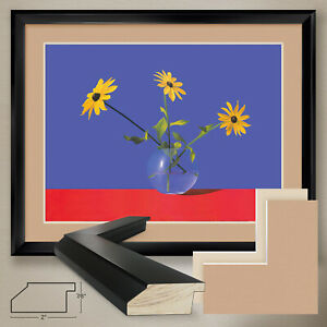 """40W""""x32H"""": BLACK-EYED SUSAN by ROBERTO AZANK - DOUBLE MATTE, GLASS and FRAME"""