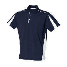 M073 Uomo Slim Fit Polo Club Shirt camicia Manica lunga aderente Clubwear
