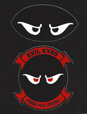 HMM163 EVIL EYES US MARINES 2 STICKERS ZAP DECALS PIN UP HMM MCAS MAW HELICOPTER