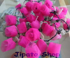 PinkRose Flower Rubber Leaf Party-Wedding-Decoration Christmas 110V Light String