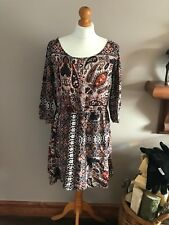 231b920ca6ad boohoo valeria open shoulder paisley skater dress multicoloured sz 14 new