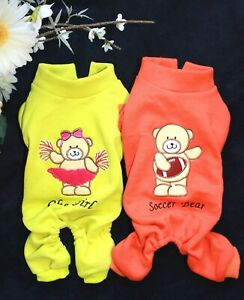For SMALL Dogs Clothes WARM Coat Pants Overall Jumpsuit Sport SOCCER CHEER GIRL