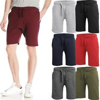 Mens Fleece Sweat SHORTS Casual Cotton Jogger Classic Fit Gym Athletic Pants