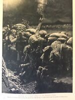 m17c8 ephemera ww1 picture british soldiers repel western front attack