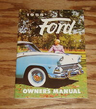 1955 Ford Owners Operators Manual Victoria Sunliner 55