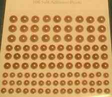 gold pearl sticker sheet self adhesive ideal card craft hobby projects 108 set