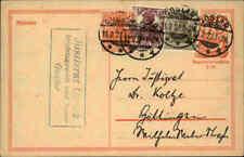 1922 Dt. Reich 40 Pf. Postreiter Ganzsache mit Zusatzfrankatur ab Stempel GOSLAR
