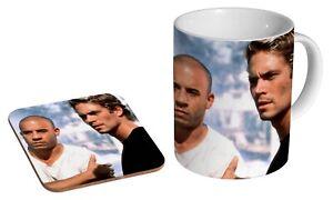 Paul Walker Vin Diesel Fast And Furious - Coffee / Tea Mug And Coaster Gift Set