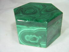 BUTW  Malachite jewelry box lapidary carving 5615B