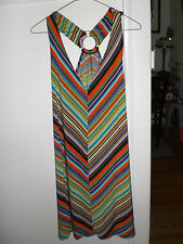 NWT Colorful striped jersey dress sport back  by Blue S size is large