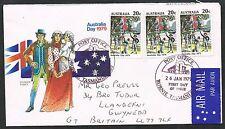 Australia 1979. Illustrated FDC to UK. Australia Day. 3 x 20c stamps.