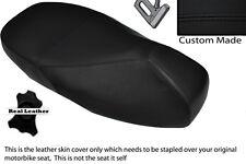 Negro Stitch Custom encaja Piaggio Vespa 125 200 Gt 1 Doble Cuero Funda De Asiento