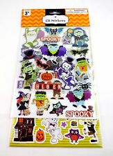 Halloween stickers 131 decals scrapbooking skeleton monster haunted house age 3+