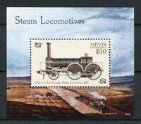Nevis 2014 MNH Steam Locomotives Engines 1v S/S I Trains Railways Stamps