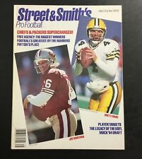 1993 Street   Smith s Pro Football Magazine Joe Montana Brett Favre Cover  ... fe021d22e